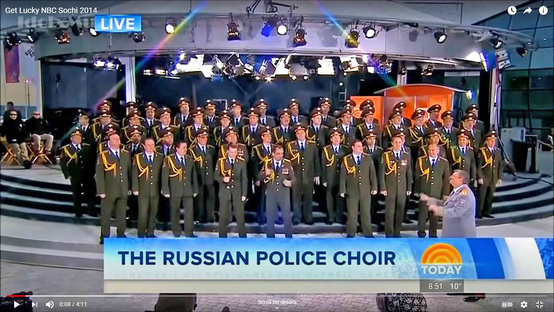 Russian Police Choir At The Sochi Winter Olympics 2014